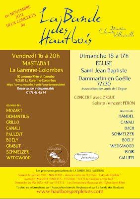 Affiche Concerts Novembre 2012