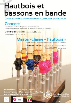 Affiche Concert Bande des Hautbois Viroflay