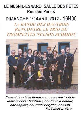 Affiche Concert Bande des Hautbois Mesnil Esnard
