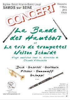 Affiche Concert Bande des Hautbois à Samois