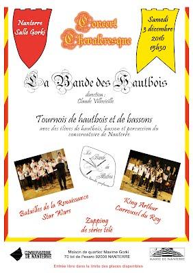 Affiche Concert Chevaleresque Nanterre