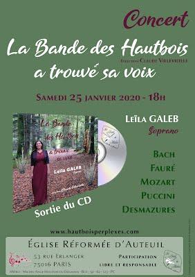 Affiche concert Auteuil BDH