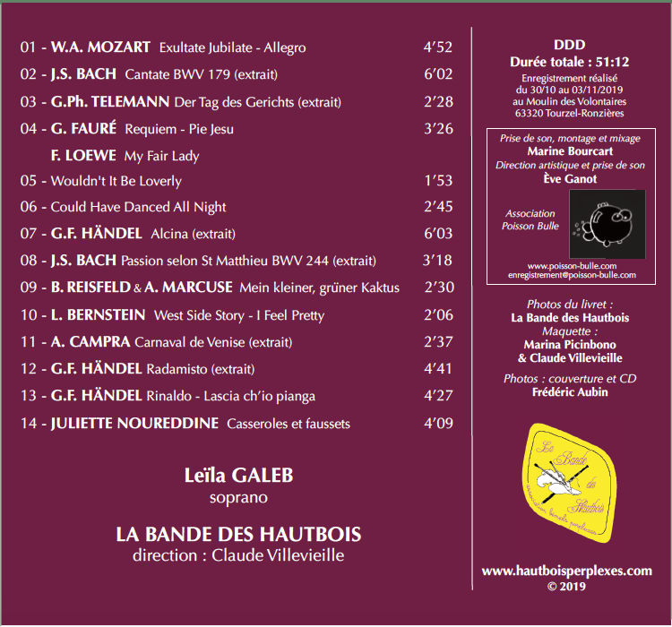 pochette CD 5 BDH