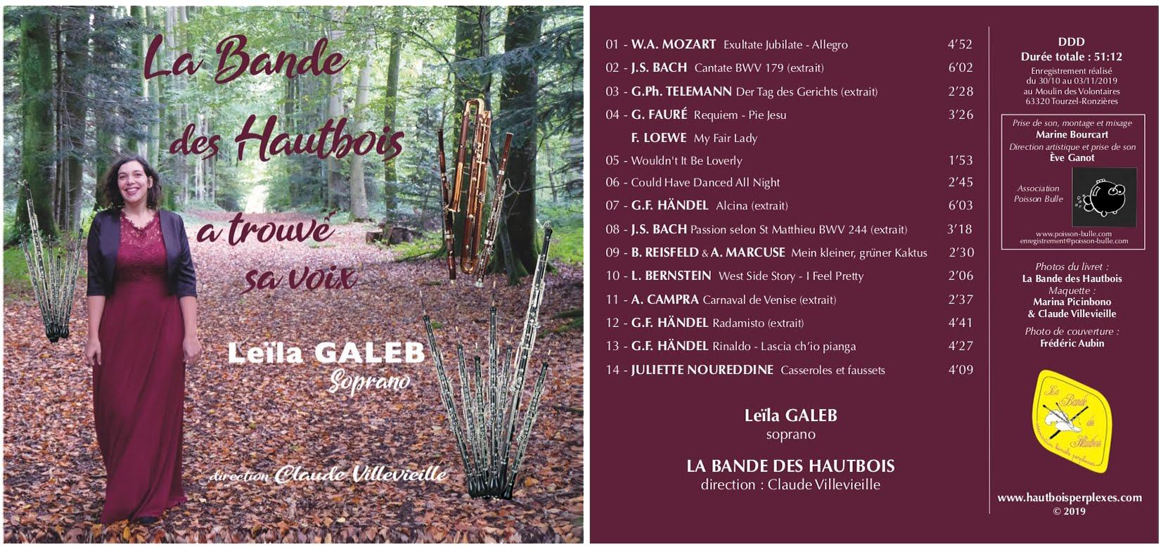 CD BHA5 : La Bande des Hautbois a trouvé sa voix - Leila Galeb