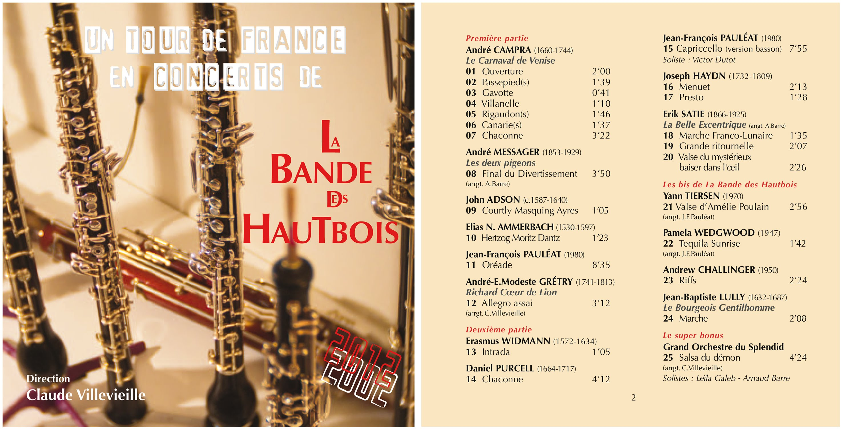 CD-BHA3 : Un TOUR de FRANCE en CONCERTS